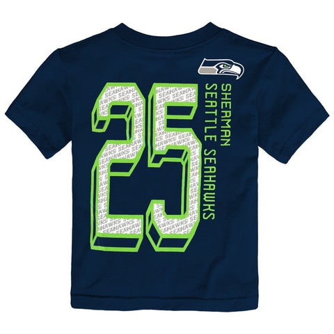 "Seattle Seahawks NFL Boys Navy Blue ""Big Numbers"" Player Jersey T-Shirt"