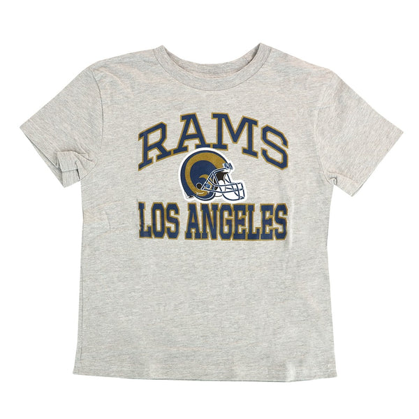 "Los Angeles Rams Outerstuff NFL Boys Grey ""Play Action"" T-Shirt"