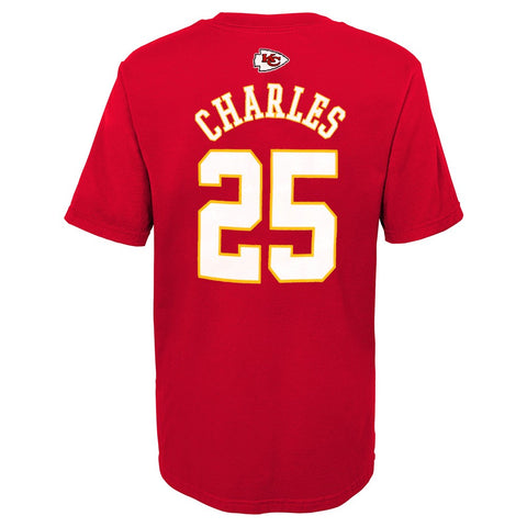 "Jamaal Charles NFL Kansas City Chiefs ""Mainliner"" Jersey T-Shirt Boys (4-7)"