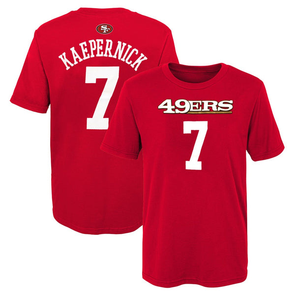 Colin Kaepernick NFL San Francisco 49ers Mainliner Jersey Red T-Shirt Boys (4-7)