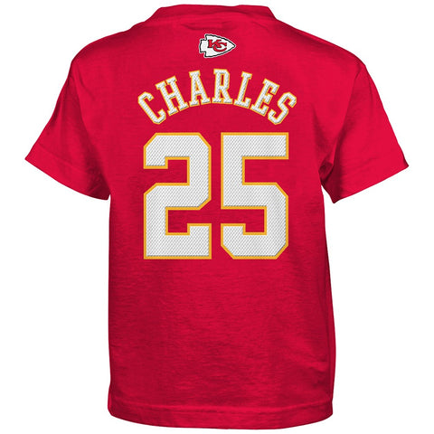"Jamaal Charles NFL Kansas City Chiefs ""Mainliner"" Red Jersey T-Shirt Boys (4-7)"