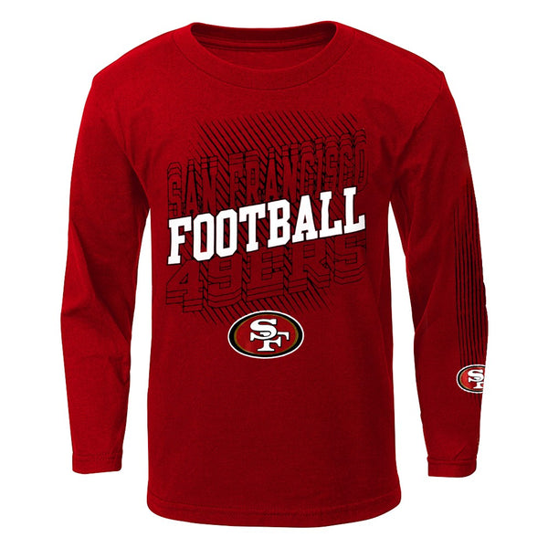 "San Francisco 49ers Outerstuff NFL Boys Red ""Frequency"" Long Sleeve T-Shirt"