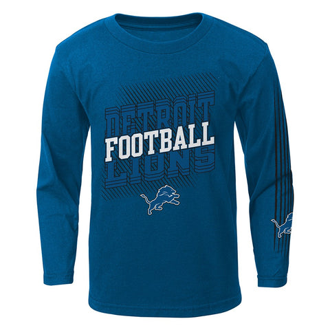 "Detroit Lions Outerstuff NFL Boys Blue ""Frequency"" Long Sleeve T-Shirt"