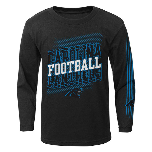"Carolina Panthers Outerstuff NFL Boys Black ""Frequency"" Long Sleeve T-Shirt"