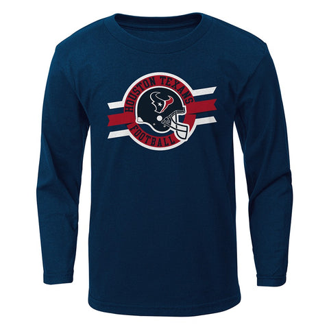 "Houston Texans NFL Boys Navy Blue ""Seal of Approval"" Long Sleeve T-Shirt"