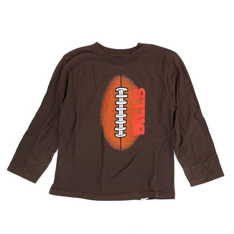 "Buffalo Bills Outerstuff NFL Boys Brown ""Mini Football"" Long Sleeve T-Shirt"
