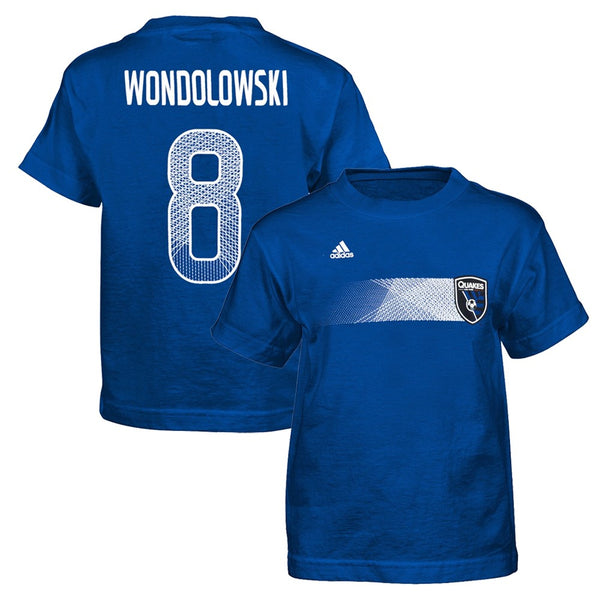"Chris Wondolowski San Jose Earthquakes Adidas MLS Boys ""Flash Forward"" T-Shirt"
