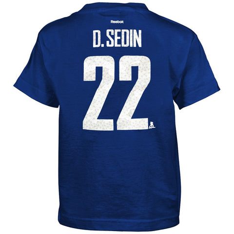 "Henrik Sedin Vancouver Canucks Reebok Boys Blue ""Fractal Camo"" Player T-Shirt"