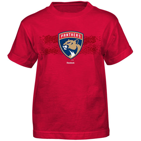 "Florida Panthers NHL Reebok Boys Red ""Fractal Camo"" T-Shirt"