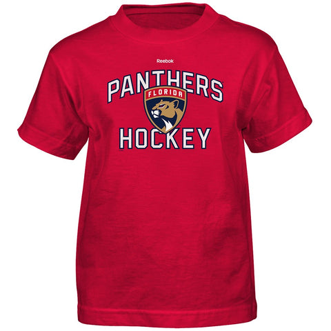 "Florida Panthers NHL Reebok Boys Red ""Open Net"" Graphic T-Shirt"