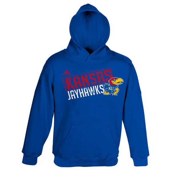 "Kansas Jayhawks Adidas ""Little Guy"" Team Logo Pullover Hoodie Boys (4-7)"