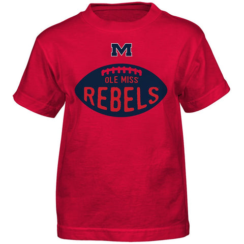 "Ole Miss Rebels NCAA Outerstuff Boys Red ""Embossed"" Alt T-Shirt"