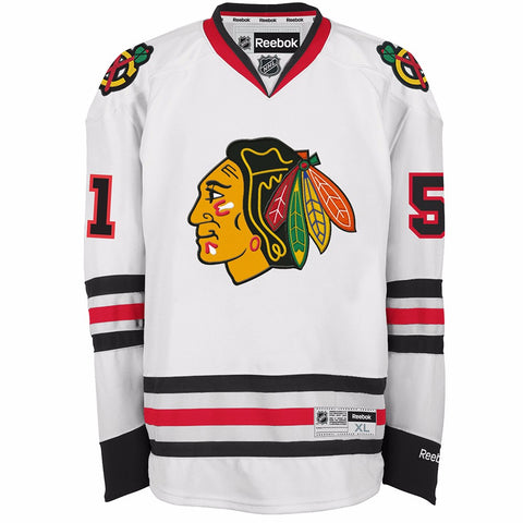 Brian Campbell Chicago Blackhawks NHL Reebok Men's White Premier Away Jersey