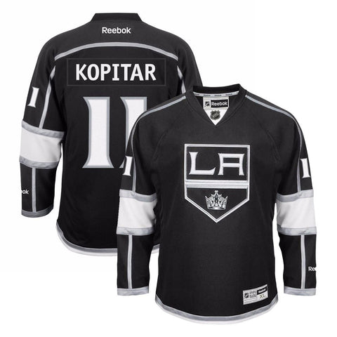 Anze Kopitar Reebok Los Angeles Kings Official Home Black Premier Jersey Men's