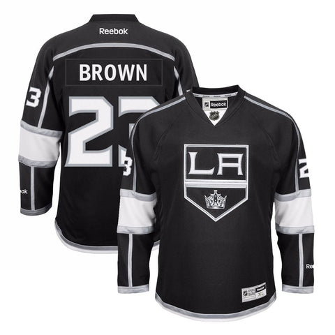 Dustin Brown Reebok Los Angeles Kings Official Home Black Premier Jersey Men's