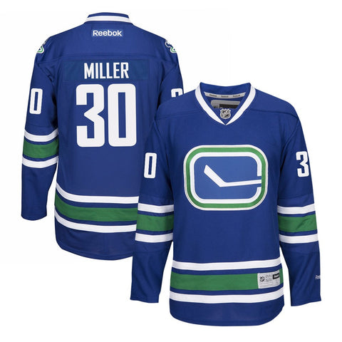 Ryan Miller Reebok Vancouver Canucks Official Home Blue Premier Jersey Men's