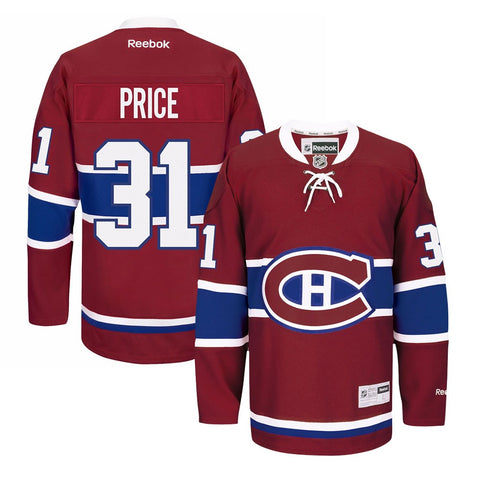 Carey Price Reebok Montreal Canadiens Official Home Red Premier Jersey Men's