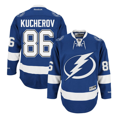 Nikita Kucherov Reebok Tampa Bay Lightning Home Blue Premier Jersey Men's