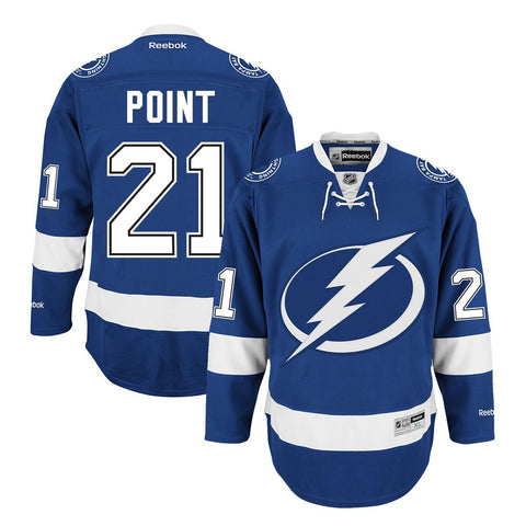 Brayden Point Reebok Tampa Bay Lightning Home Blue Premier Jersey Men's