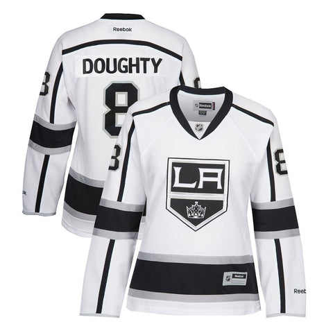 Drew Doughty Reebok Los Angeles Kings Away White Edge Premier Jersey Women's