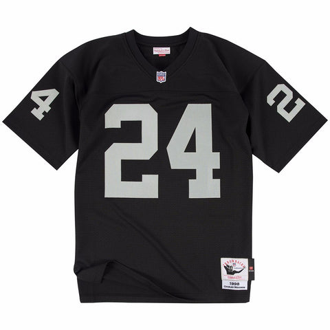 2002 Charles Woodson NFL Oakland Raiders Mitchell & Ness Authentic Home Jersey