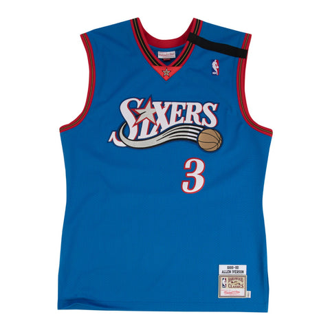Allen Iverson 1999-2000 Philadelphia 76ers Mitchell & Ness Authentic Blue Jersey