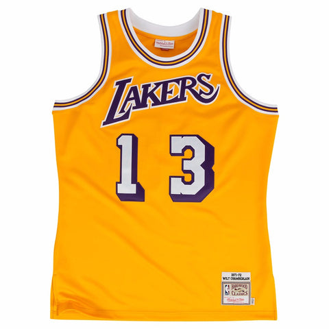 1971-72 Wilt Chamberlain NBA Los Angeles Lakers Mitchell & Ness Authentic Jersey