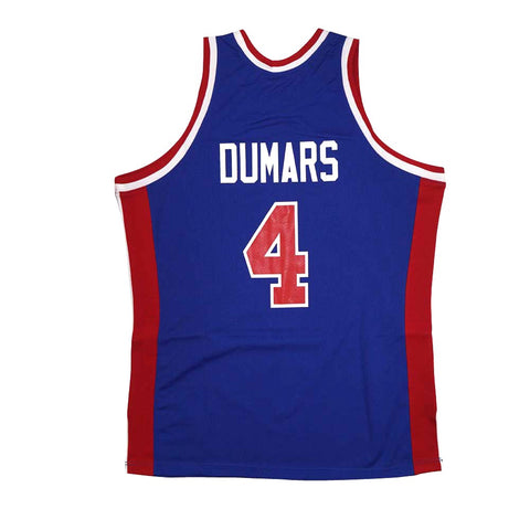 1988-89 Joe Dumars NBA Detroit Pistons Mitchell & Ness Authentic Away Jersey