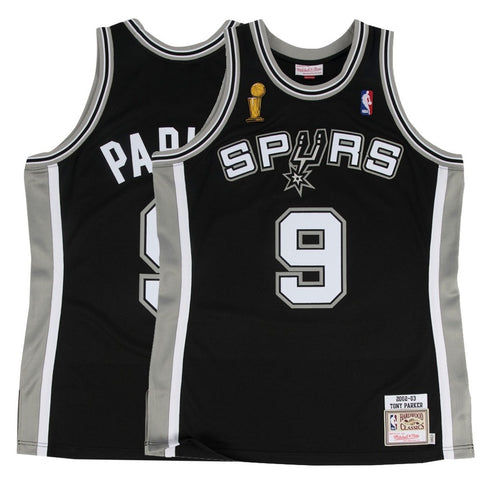 2002-03 Tony Parker NBA San Antonio Spurs Mitchell & Ness Authentic Away Jersey