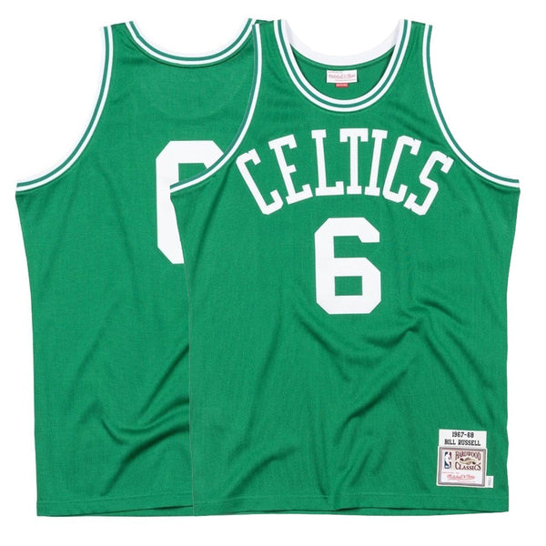 e7bedafb67c 1967-68 Bill Russell NBA Boston Celtics Mitchell   Ness Authentic Green  Jersey