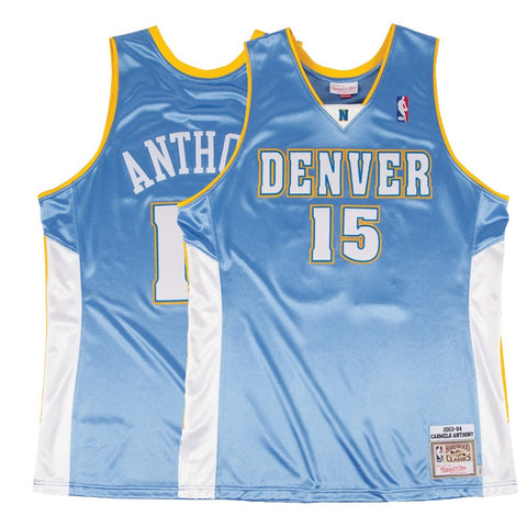 2003-04 Carmelo Anthony NBA Denver Nuggets Mitchell & Ness Authentic Away Jersey