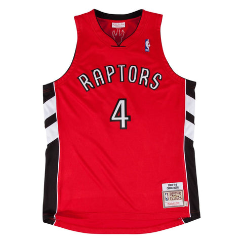 2003-04 Chris Bosh NBA Toronto Raptors Mitchell & Ness Authentic Away Red Jersey