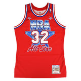 Magic Johnson 1991 NBA All Star West Mitchell & Ness Authentic Red Jersey Men's