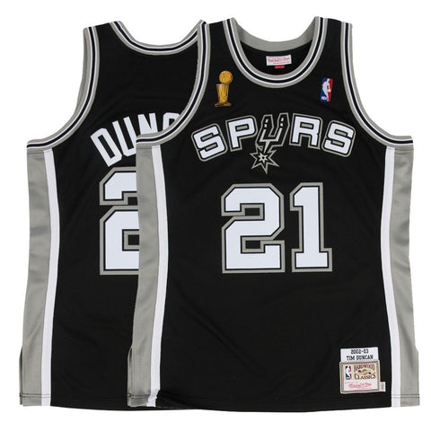 2002-03 Tim Duncan NBA San Antonio Spurs Mitchell & Ness Authentic Away Jersey