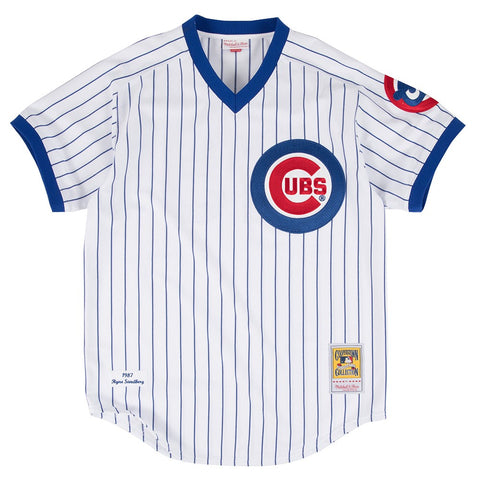 Ryne Sandberg #23 Chicago Cubs 1987 MLB Mitchell & Ness Men's White Jersey
