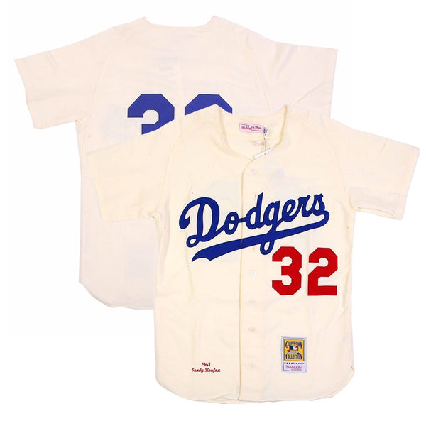 1965 Sandy Koufax MLB Los Angeles Dodgers Mitchell & Ness Authentic Home Jersey
