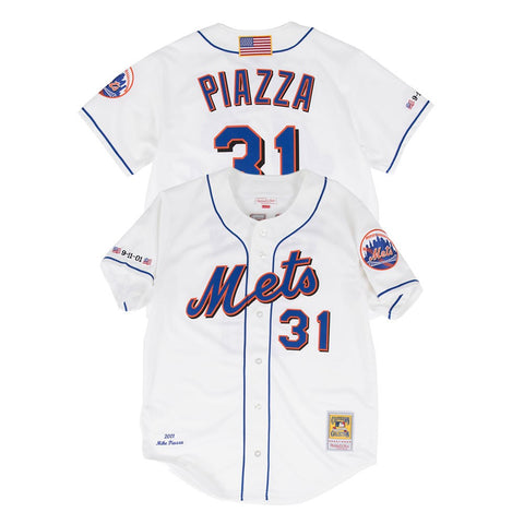 Mike Piazza 2001 New York Mets Mitchell & Ness Authentic Alternate White Jersey