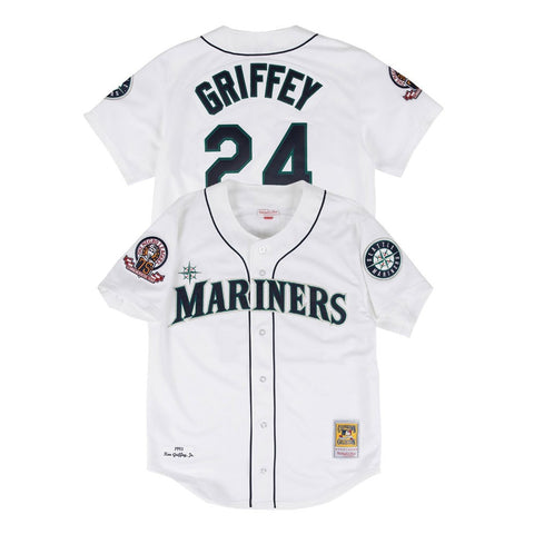 Ken Griffey Jr 1995 Seattle Mariners Mitchell & Ness Authentic Home White Jersey