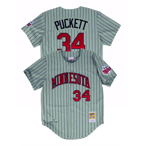Kirby Puckett 1987 Minnesota Twins Mitchell & Ness Authentic Road Grey Jersey