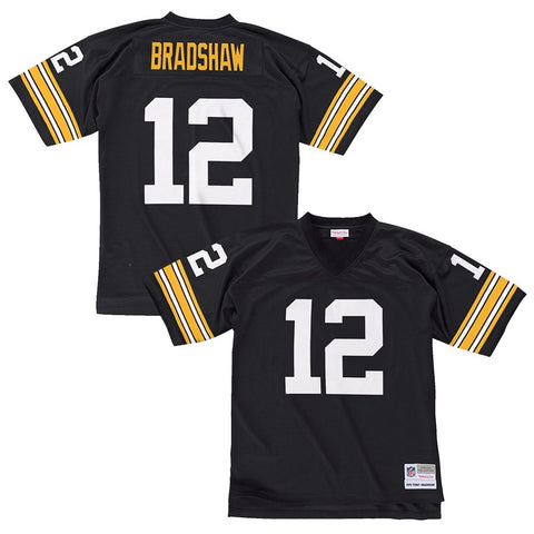 Terry Bradshaw 1976 Pittsburgh Steelers Mitchell & Ness Home Black Legacy Jersey