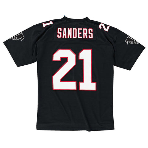 Deion Sanders 1992 Atlanta Falcons Mitchell & Ness Home Black Legacy Jersey Men