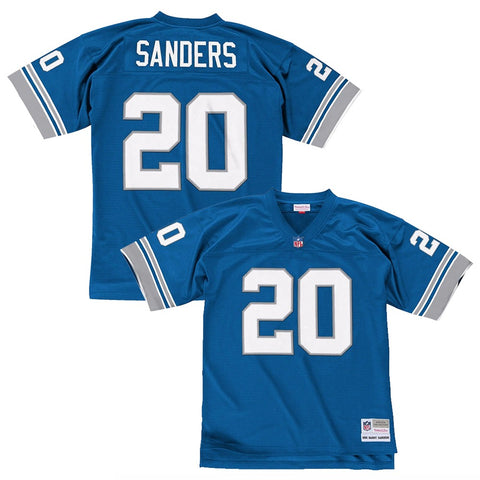 Barry Sanders 1996 Detroit Lions Mitchell & Ness Home Blue Legacy Jersey Men's