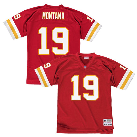Joe Montana 1994 Kansas City Chiefs Mitchell & Ness Home Red Legacy Jersey Men's