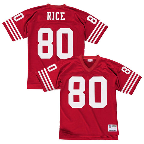 Jerry Rice 1990 San Francisco 49ers Mitchell & Ness Home Red Legacy Jersey Men's