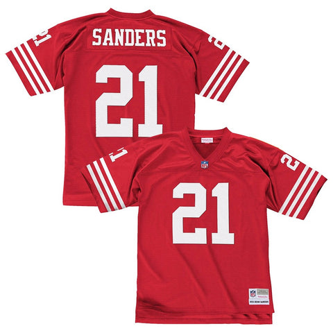 Deion Sanders 1994 San Francisco 49ers Mitchell & Ness Home Red Legacy Jersey