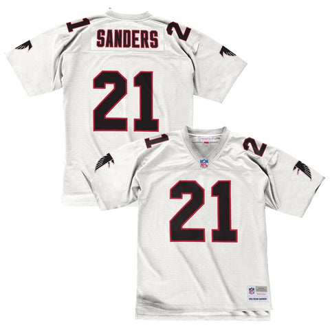 Deion Sanders 1992 Atlanta Falcons Mitchell & Ness Road White Legacy Jersey Men