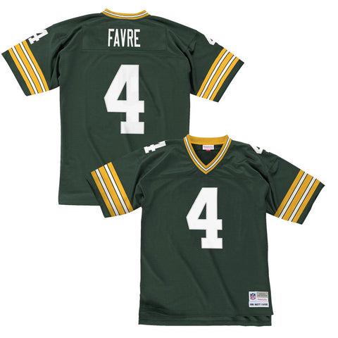 Brett Favre 1996  Green Bay Packers Mitchell & Ness Home White Legacy Jersey