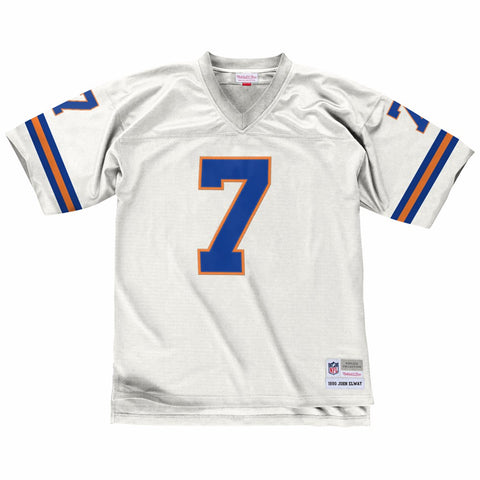 John Elway 1990 Denver Broncos Mitchell & Ness Road White Legacy Jersey Men's