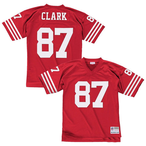 Dwight Clark 1982 San Francisco 49ers Mitchell & Ness Home Red Legacy Jersey