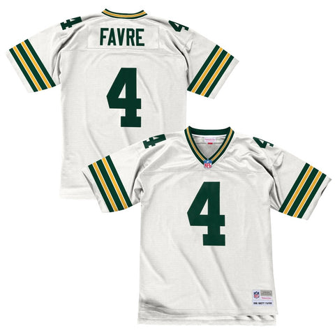 Brett Favre 1996 Green Bay Packers Mitchell & Ness Men's NFL White Legacy Jersey